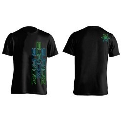 CAMISETA SUPACAZ STR8 UP VERDE/AZUL NEON XL