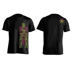 CAMISETA SUPACAZ STR8 UP ROSA/AMARILLO NEON XL